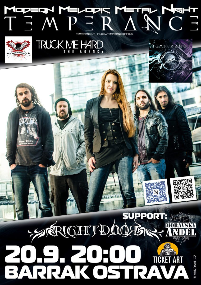 Detail akce Temperance (ITA) + support – Metal Night Show