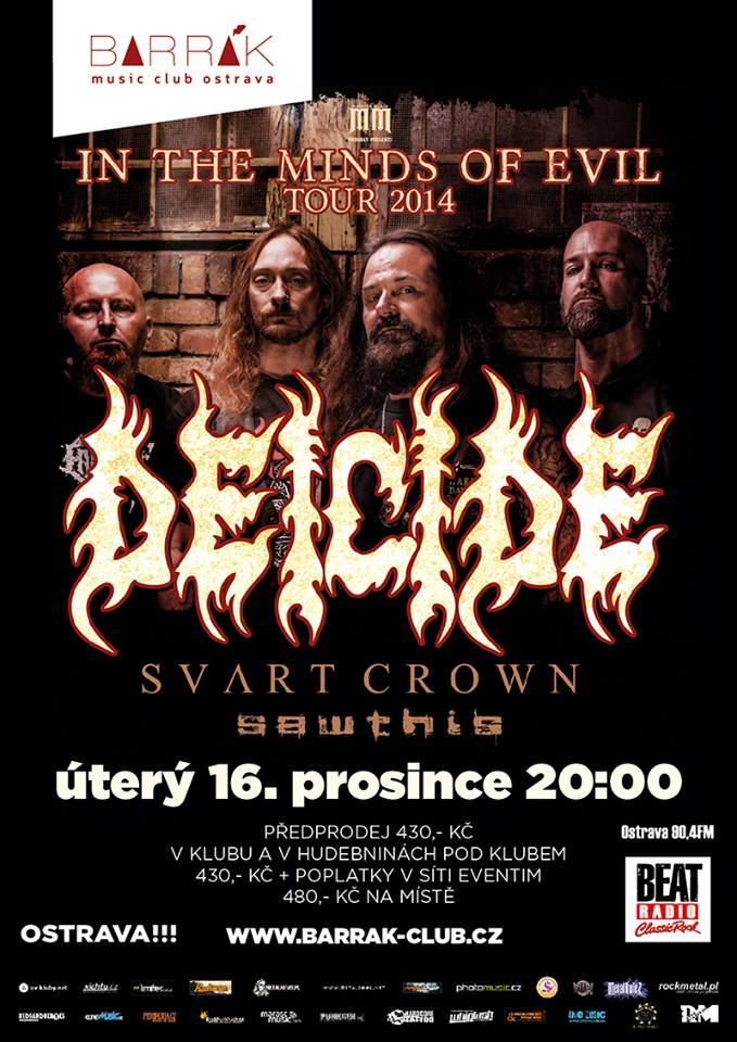 Detail akce Deicide – In the Minds Of Evil tour 2014
