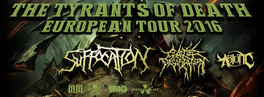 Detail akce Suffocation, Cattle Decapitation, Abiotic