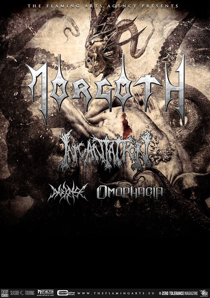 Detail akce Morgoth, Incantation, Darkrise, Omophagia