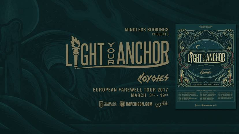 Detail akce Farewell tour: Light Your Anchor, Coyotes,  Uprise From The Ashes